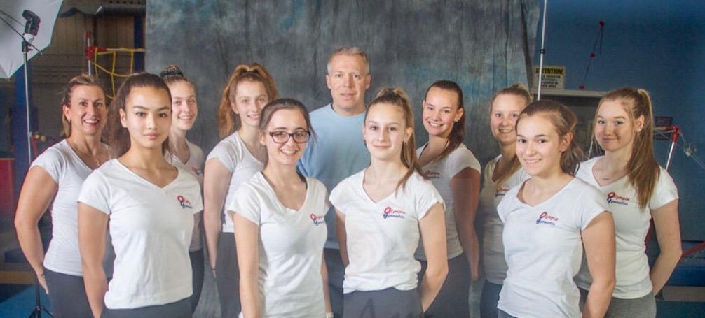 image of staff of olympia gymnastics circa 2020